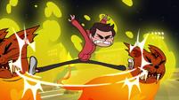 S1E4 Marco split-kicks firecats