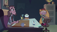 S2E3 Star Butterfly jumps into swivel chair