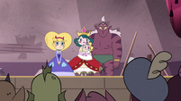 S4E24 Star, Eclipsa, and Globgor listen to Buff Frog