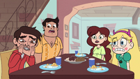 S3E32 Star and the Diazes look shocked at Marco