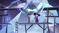 S4E13 Marco and Eclipsa stand under Globgor