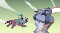 S4E33 Kelly and Jorby attack Solarian Warrior