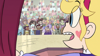 S4E24 Star sees Moon sitting in the crowd