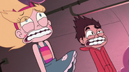 S3E14 Star and Marco blown by lint monster's roar
