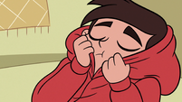 S3E8 Marco Diaz continues sniffing his hoodie