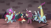 S4E24 Guards dance around Eclipsa and Globgor