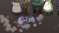 S3E36 Crying villager falls on the ground