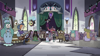 S4E25 Globgor and Eclipsa appear over crowd