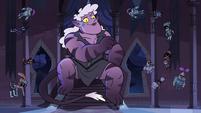 S3E38 Meteora sitting on the throne of Mewni