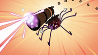 S2E22 Spider With a Top Hat firing his laser cannon