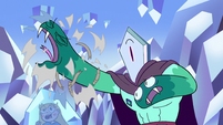 S2E34 Rhombulus's right hand breaks out of sock
