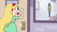 S3E11 Star Butterfly pounding on Glossaryck's door