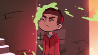 S2E3 Marco splattered with pear juice