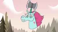 S3E37 Pony Head appears with an axe horn