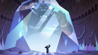 S3E38 Globgor trapped in giant block of crystal