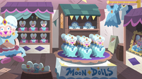 S4E1 Store filled with Queen Moon merchandise