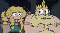 S3E27 Star Butterfly drawing on her father's back