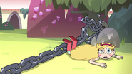 S3E14 Star Butterfly trips over dragon chains