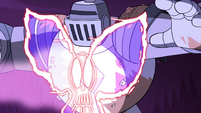 S4E33 Solarian Warrior struck by Spell With No Name