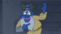S4E17 Glossaryck pointing at his other arm