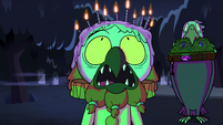 S2E27 Ludo with lit candles on his head