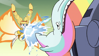 S4E33 Star Butterfly summons a rainbow whale