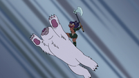 S4E5 Brunzetta and bear leap into the air