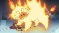 S4E5 Marco and the fire demon look at Star