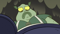 S2E12 Buff Frog frowning