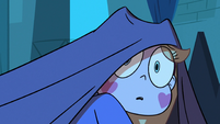 S3E9 Star Butterfly peeks out from under the covers