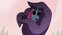 S3E38 Pony Head's soulless body in Meteora's hand
