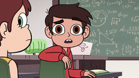 S2E32 Marco Diaz looking confused at Star Butterfly