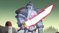 S4E33 Solarian Warrior looming menacingly