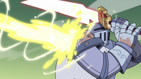 S4E33 Solarian Warrior hit by Star's magic