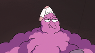 S3E14 Lint monster looking smugly satisfied
