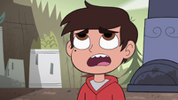 S4E33 Marco looks up at Solarian Warrior