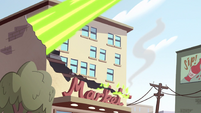 S2E14 Ludo's magic cuts through a building
