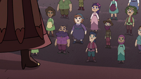 S4E35 Villagers listening to Solaria Butterfly