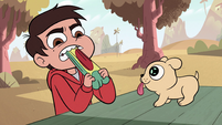 S2E6 Marco bites down on his juice pouch