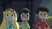 S4E11 Star, Marco, and Janna looking excited