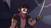 S2E31 Adult Marco showing his sword to Star