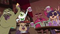S4E36 Tavern patrons raising their glasses