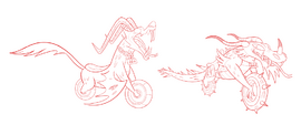 Running with Scissors Concept Art - Dragoncycle