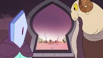 S3E2 Rhombulus and Lekmet looks outside the castle