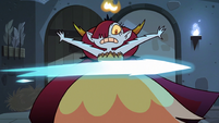 S3E11 Hekapoo dodges the flying crystal beam