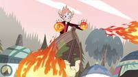 S4E24 Tom blasting fireballs from his hands