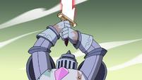 S4E33 Solarian Warrior raises its sword again