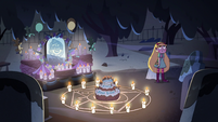 S2E27 Star Butterfly alone in the cemetery