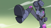 S4E33 Solarian Warrior raising its foot
