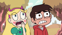 S2E6 Star and Marco looking worried